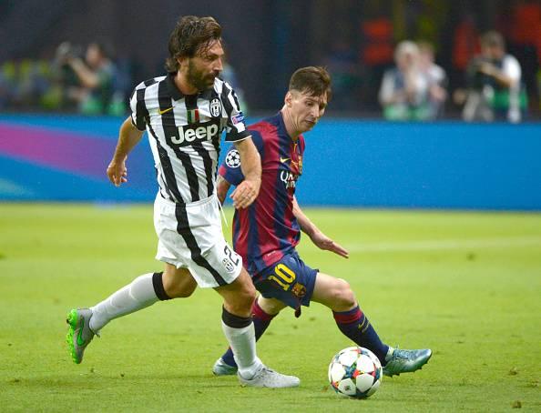 Andrea Pirlo Lionel Messi Champions League
