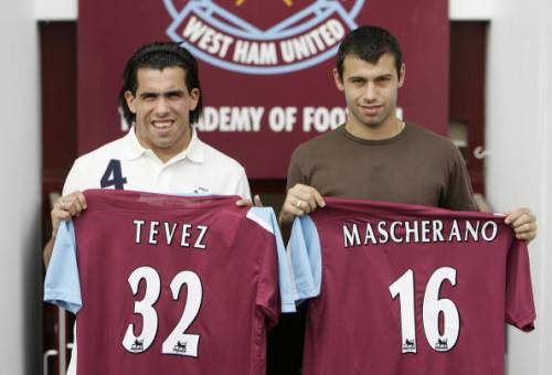 Carlos Tevez and Javier Mascherano West Ham United and Argentina