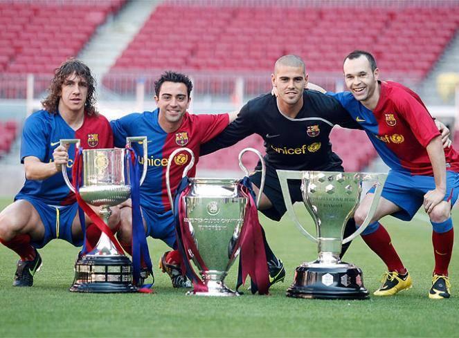 Image result for barcelona treble winning squad 2009