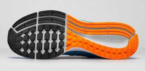 Waffle outsole along with Crash Rail underfoot