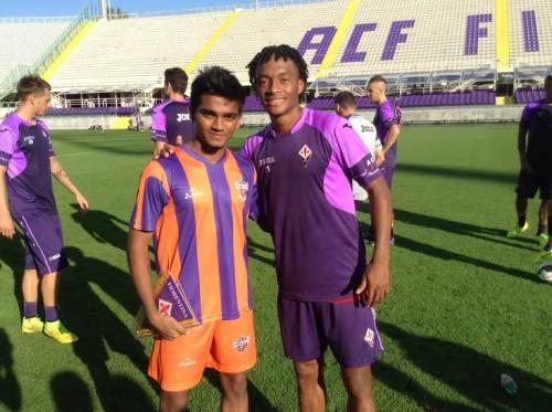 Pratik Shinde with Juan Cuadrado