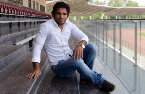 Amit Kumar wrestling