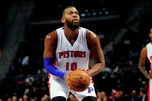 Greg Monroe while for the Pistons