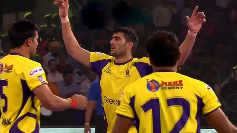 Telugu Titans Rahul Chaudhari pro Kabaddi Jaipur Pink Panthers