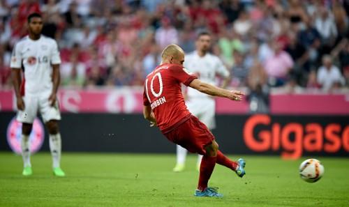 Arjen Robben penalty Bayern 3-0 Bayer