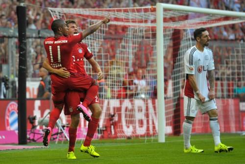 Douglas Costa Thomas Muller Bayern goals Bayer
