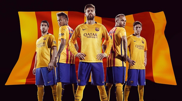online store 5a67e b0059 Barcelona's 2015-16 official kit now available in India