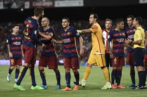 Pique Barcelona red card sending off bilbao ban