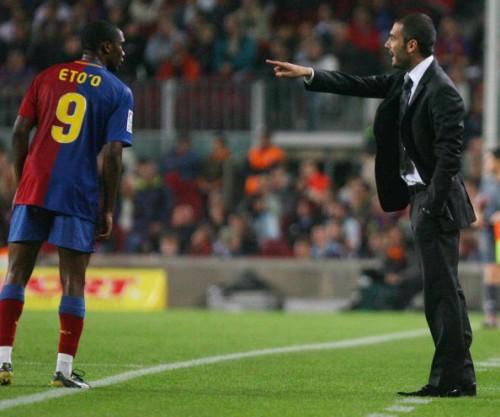 Samuel Eto'o Pep Guardiola