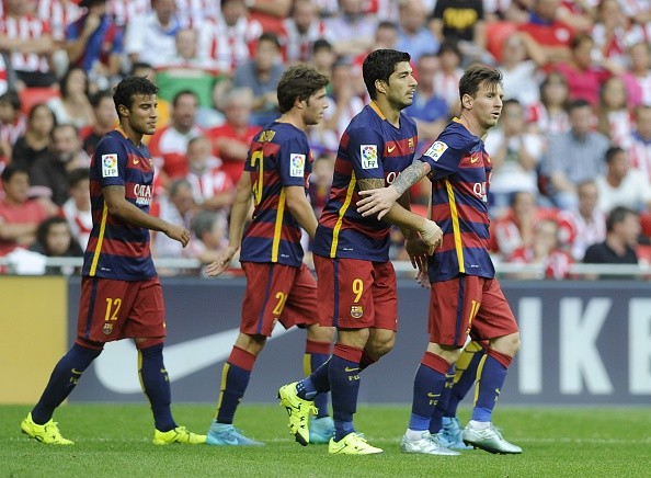 Athletic Club 0-1 Barcelona: Luis Suarez strike seals three points for defending champions