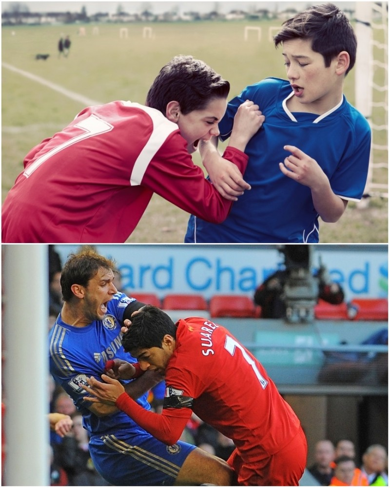 Luis Suarez Liverpool Ivanovic bite