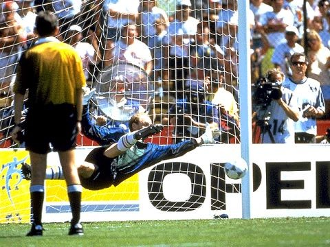 3c7bda00723 Thomas Ravelli makes the crucial save for Sweden in the penalty shootout in  the quarter finals .