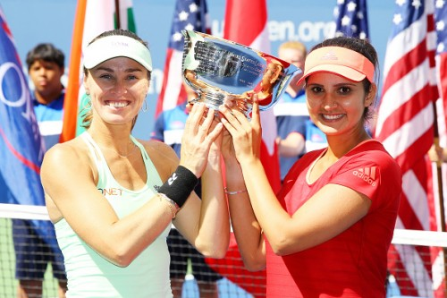 Martina Hingis Sania Mirza US Open 2015