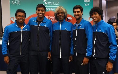 India Davis Cup team 2015 Paes Bhambri Bopanna Devvarman