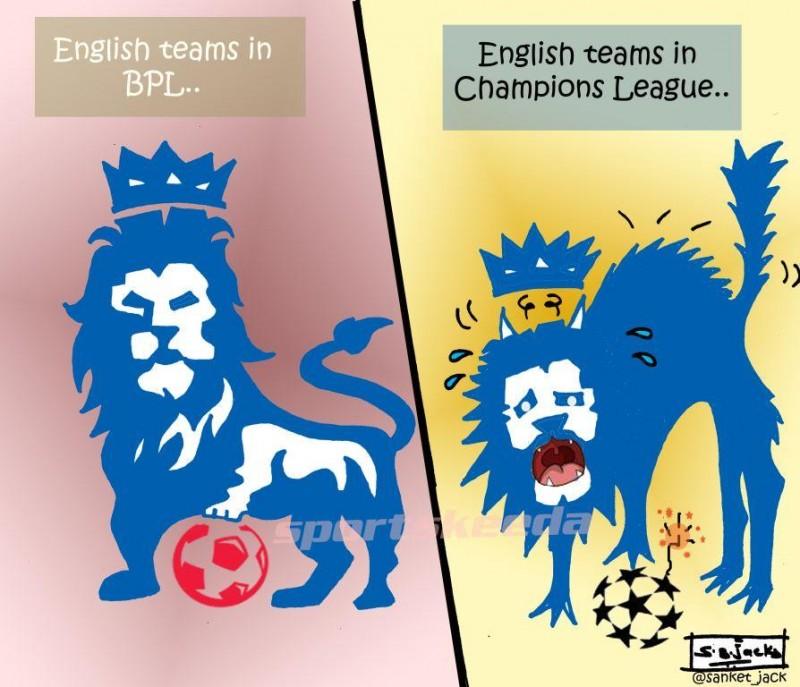 Premier League Clubs: Comic: English Teams In Premier League Vs Champions League