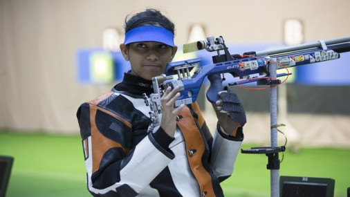 2015 Asian Airgun Championships: Ayonika Paul wins bronze medal in the Women's 10m Air Rifle
