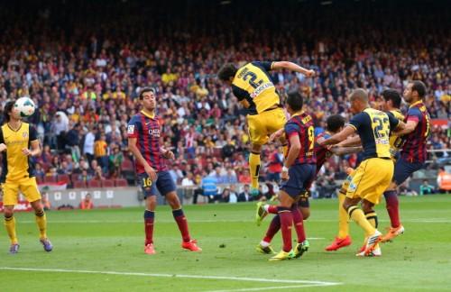 Diego Godin goal Barcelona Atletico Madrid