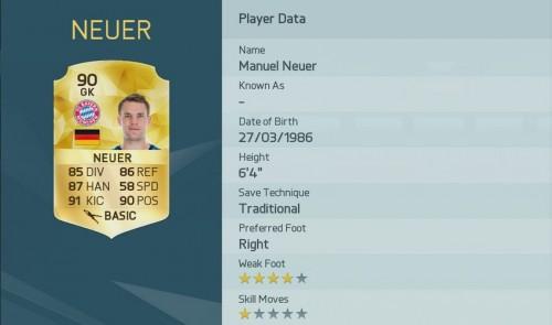 manuel neuer Bayern munich FIFA 16