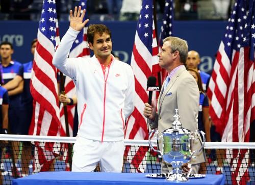 Roger Federer at the US Open 2015