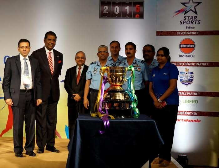 Air Force unveil trophy for Subroto Cup  at SCORECARD 2015