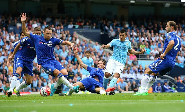 Sergio Aguero goal Man City Chelsea