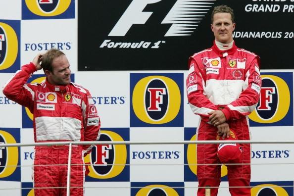Rubens Barichello Michael Schumacher Ferrair