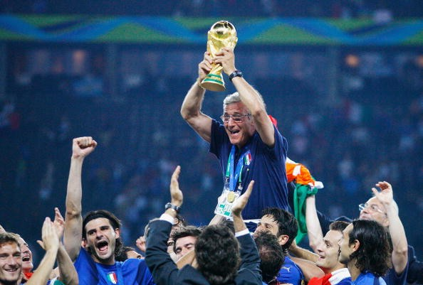 2006 World Cup winning coach Marcello Lippi was questioned ahead of the tournament in Germany