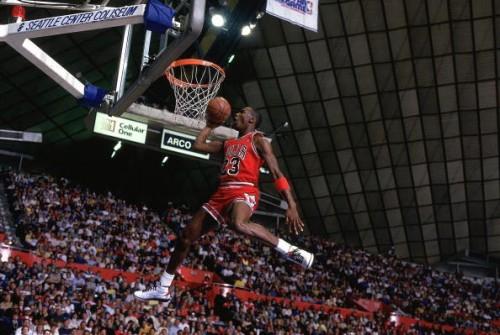 Michael Jordan during the 1987 NBA Slam Dunk Contest