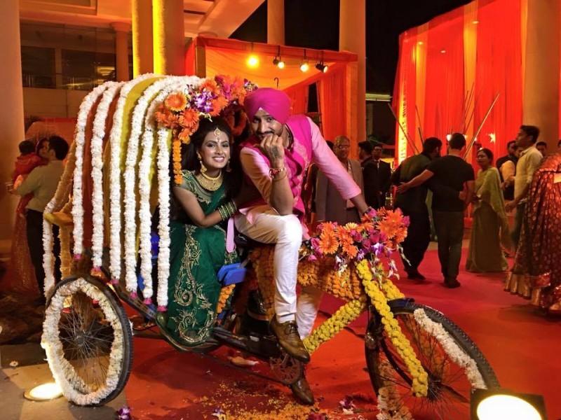 Best images from Harbhajan Singh-Geeta Basra's Mehandi & Sangeet ceremonies
