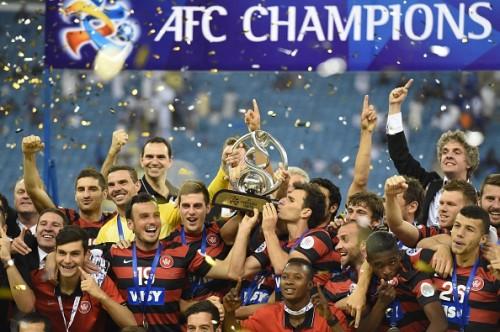 Western Sydney Wanderers celebrating their 2014 AFC Champions League triumph