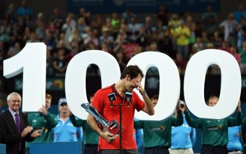 Federer Brisbane 1000 titles 2015