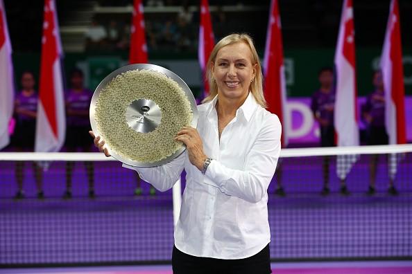 Martina Navratilova WTA Finals Singapore 2015 Legends