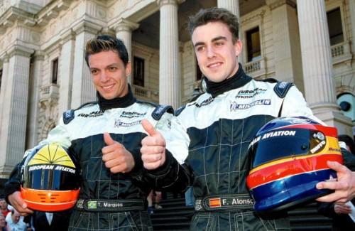 Fernando Alonso Tarso Marques Minardi 2001