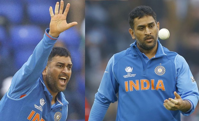 Image result for ms dhoni bowling