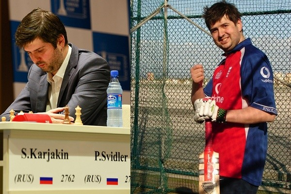 Equally at ease at the board and on the pitch: Peter Svidler