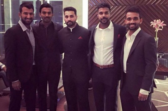 Best Images Cricketers Celebrities Attend Harbhajan Singhs