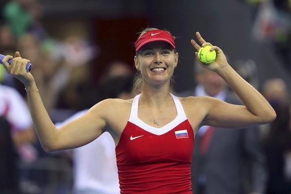 Maria Sharapova during Fed Cup