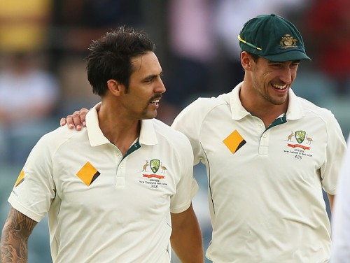Mitchell Starc Mitchell Johnson Australia Cricket.jpg