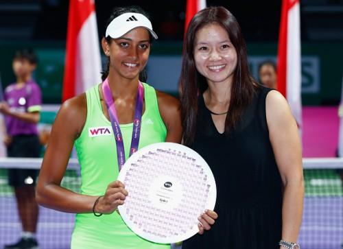 Karman Kaur Thandi WTA Futures 2015 Li Na