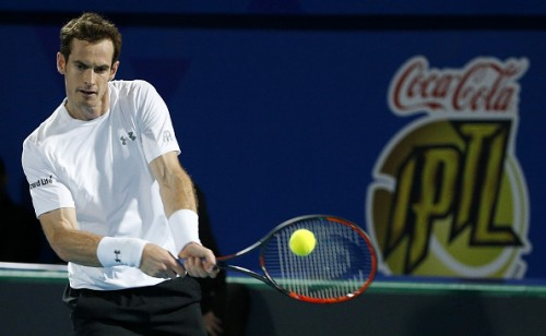 Andy Murray Singapore Slammers IPTL 2015 Roger Federer