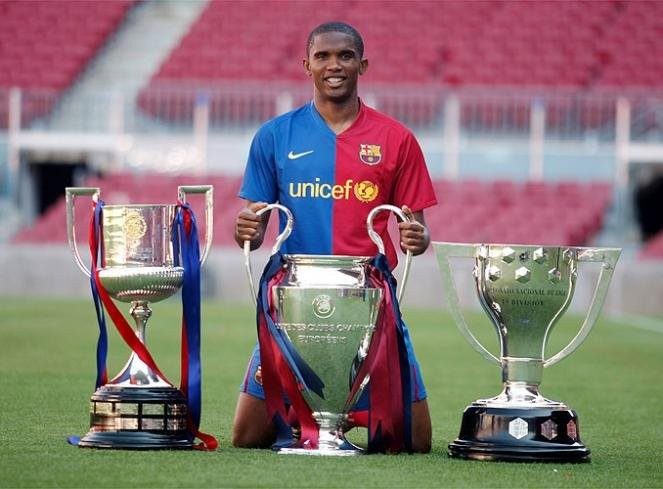 Image result for samuel eto'o champions league medals