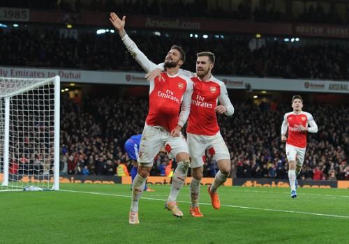 Olivier Giroud Aaron Ramsey goal Arsenal