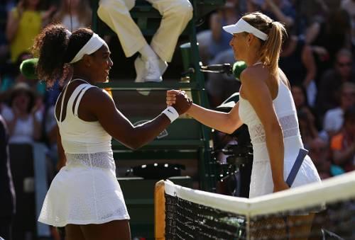 Maria Sharapova Serena Williams 2015 Wimbledon
