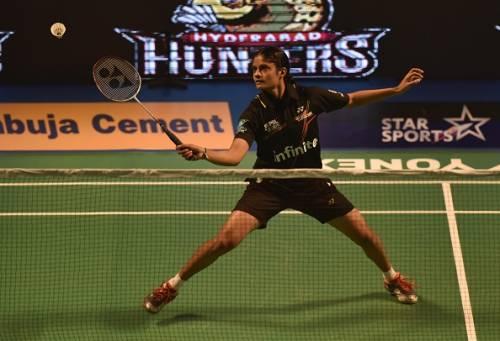 PC Thulasi Hyderabad Hunters Premier Badminton League 2016