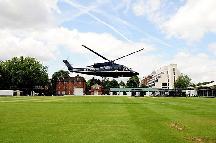 When a Knight landed a helicopter filled with cash at Lords