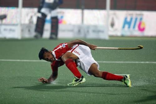 Harmanpreet Singh Dabang Mumbai Jaypee Punjab Warriors Hockey India League 2016 HIL
