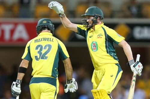 Glenn Maxwell George Bailey Australia India ODI 2016