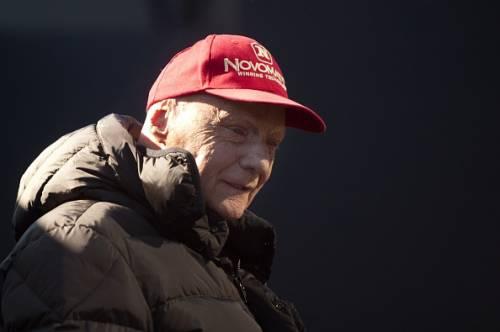 Niki Lauda red cap 2015