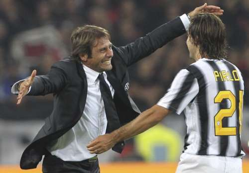 antonio conte and andrea pirlo