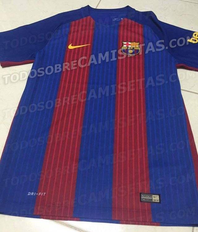 eecddde17e7 Leaked photo of Barcelona jersey for 2016 17 season
